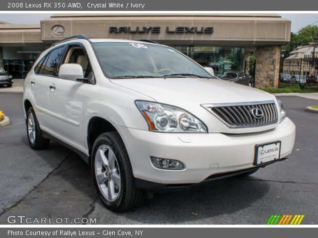 crystal white 2008 lexus rx 350 awd ivory interior vehicle archive 83206195. Black Bedroom Furniture Sets. Home Design Ideas