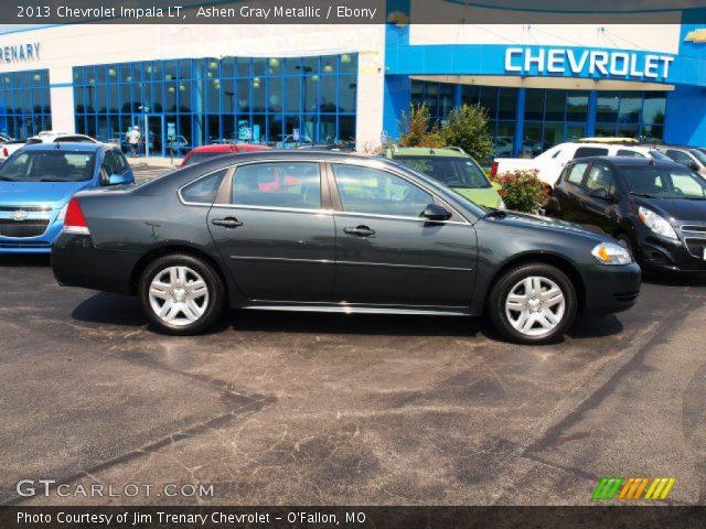 Ashen Gray Metallic 2013 Chevrolet Impala Lt Ebony Interior Vehicle Archive