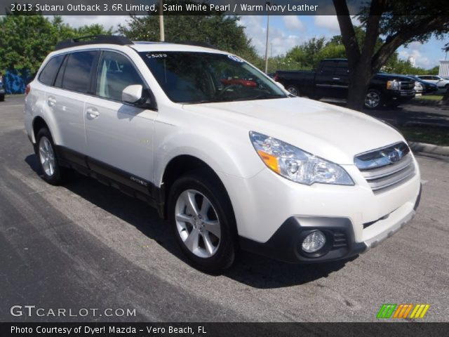 satin white pearl 2013 subaru outback 3 6r limited warm ivory leather interior gtcarlot. Black Bedroom Furniture Sets. Home Design Ideas