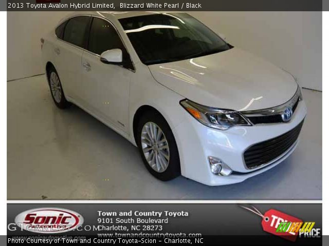 blizzard white pearl 2013 toyota avalon hybrid limited black interior. Black Bedroom Furniture Sets. Home Design Ideas