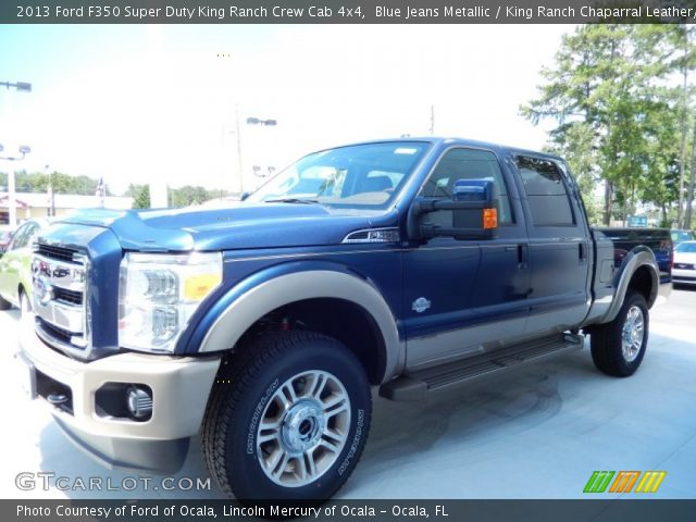 Blue Jeans Metallic 2013 Ford F350 Super Duty King Ranch Crew Cab 4x4 King Ranch Chaparral