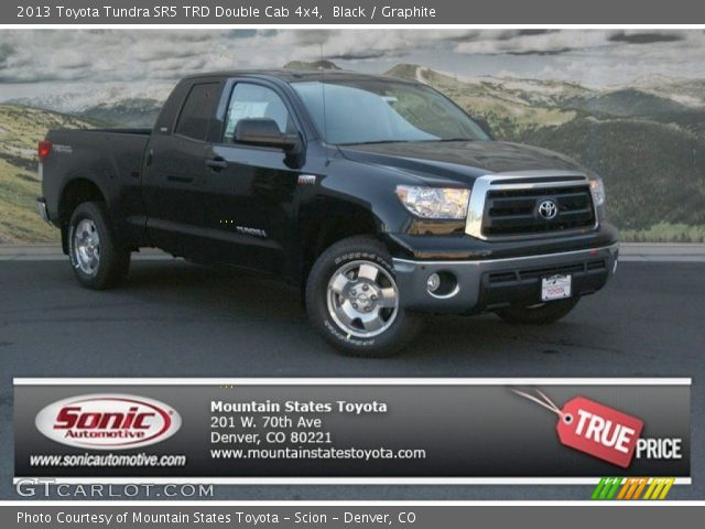 black 2013 toyota tundra sr5 trd double cab 4x4 graphite interior vehicle. Black Bedroom Furniture Sets. Home Design Ideas