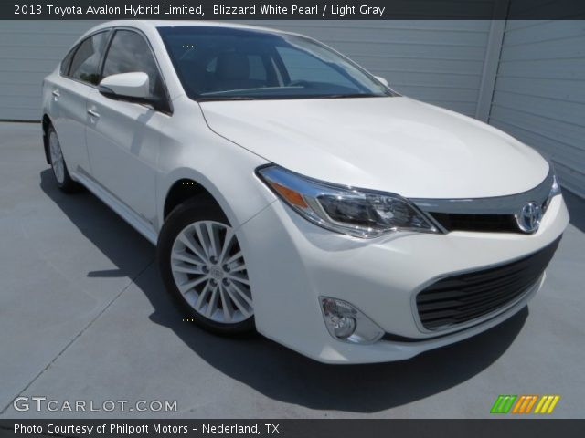 blizzard white pearl 2013 toyota avalon hybrid limited light gray interior. Black Bedroom Furniture Sets. Home Design Ideas