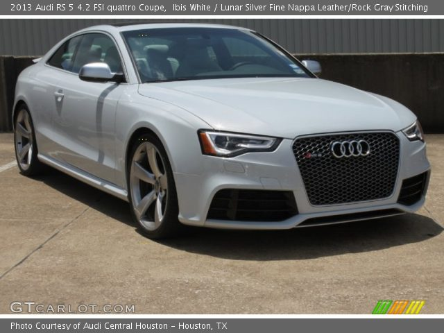 ibis white 2013 audi rs 5 4 2 fsi quattro coupe lunar silver fine nappa leather rock gray. Black Bedroom Furniture Sets. Home Design Ideas