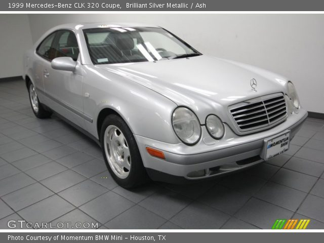 brilliant silver metallic 1999 mercedes benz clk 320 coupe ash interior. Black Bedroom Furniture Sets. Home Design Ideas