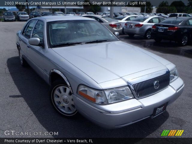 silver birch metallic 2003 mercury grand marquis ls ultimate edition light flint interior. Black Bedroom Furniture Sets. Home Design Ideas