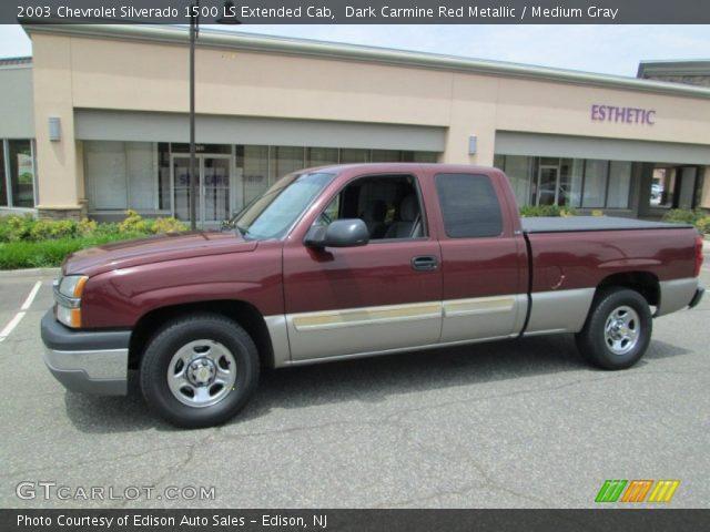2003 Chevrolet Silverado 1500 LS Extended Cab in Dark Carmine Red Metallic