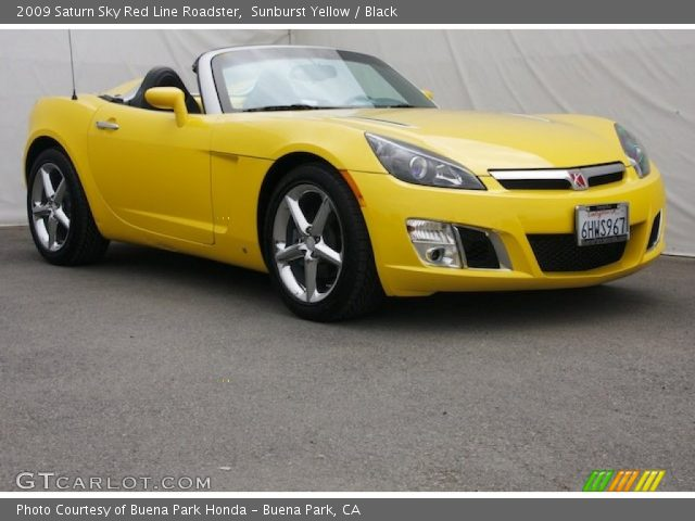 sunburst yellow 2009 saturn sky red line roadster black interior vehicle. Black Bedroom Furniture Sets. Home Design Ideas