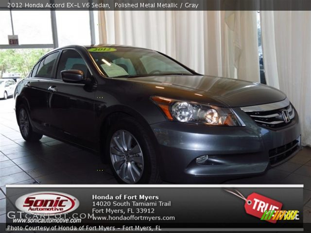 polished metal metallic 2012 honda accord ex l v6 sedan gray interior. Black Bedroom Furniture Sets. Home Design Ideas