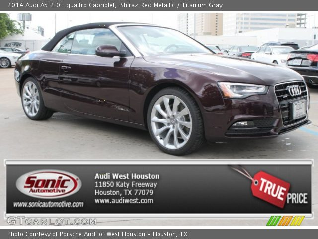 2014 Audi A5 2.0T quattro Cabriolet in Shiraz Red Metallic