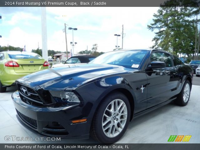 2014 ford mustang v6 premium coupe in black