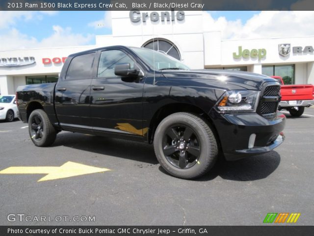 2013 Ram 1500 Black Express Crew Cab in Black