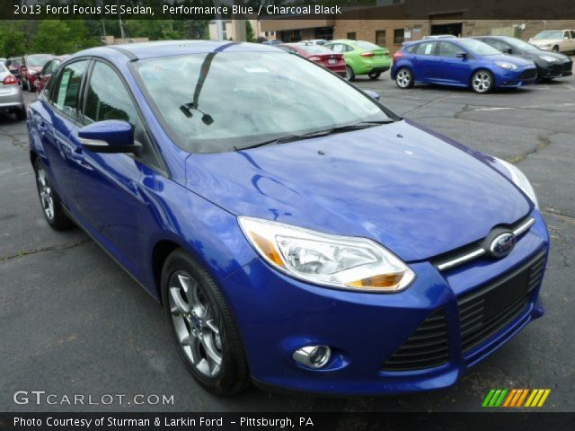 Performance Blue - 2013 Ford Focus SE Sedan - Charcoal ...