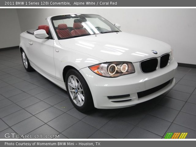 Alpine White 2011 Bmw 1 Series 128i Convertible Coral Red Interior Vehicle