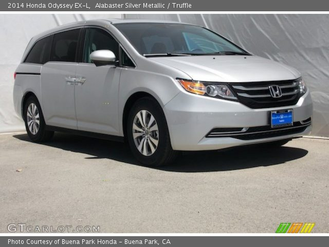 alabaster silver metallic 2014 honda odyssey ex l truffle interior vehicle. Black Bedroom Furniture Sets. Home Design Ideas