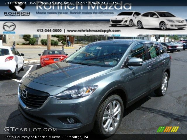 dolphin gray mica 2013 mazda cx 9 grand touring awd black interior vehicle. Black Bedroom Furniture Sets. Home Design Ideas