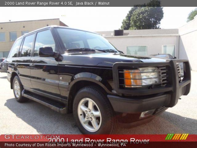 Java black 2000 land rover range rover 4 0 se walnut for Land rover 2000 interior