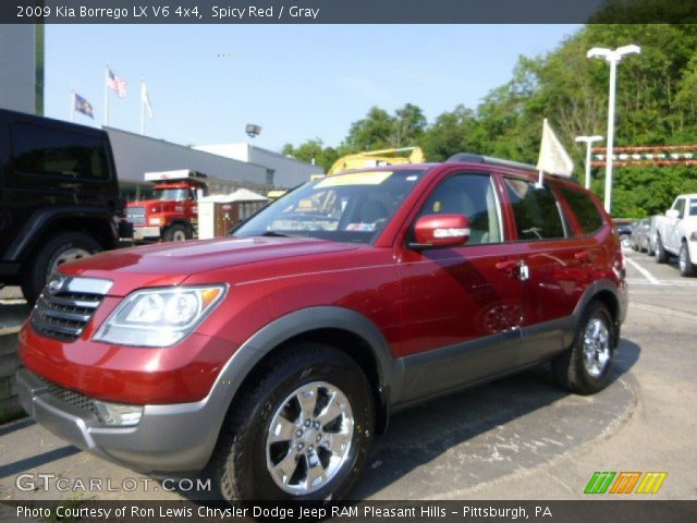 spicy red 2009 kia borrego lx v6 4x4 gray interior. Black Bedroom Furniture Sets. Home Design Ideas