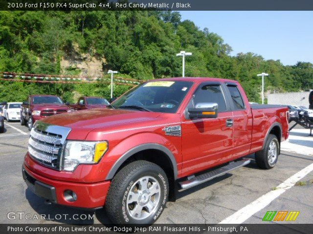 red candy metallic 2010 ford f150 fx4 supercab 4x4. Black Bedroom Furniture Sets. Home Design Ideas