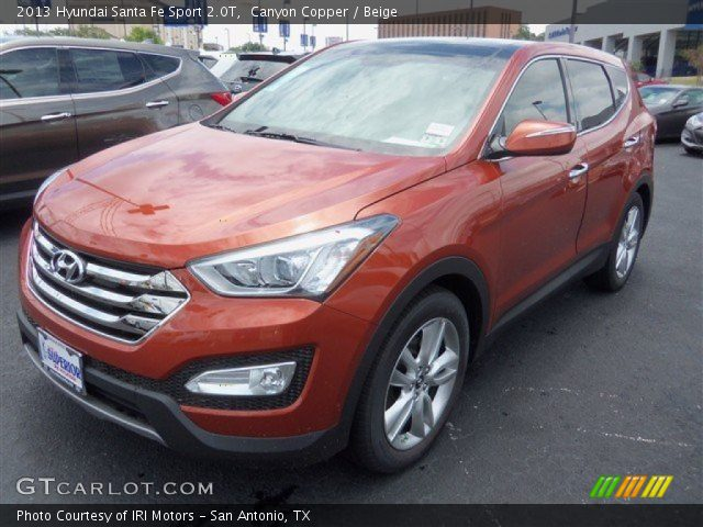 canyon copper 2013 hyundai santa fe sport 2 0t beige interior vehicle. Black Bedroom Furniture Sets. Home Design Ideas