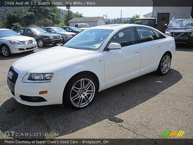 ibis white 2008 audi a6 3 2 quattro sedan black interior vehicle archive. Black Bedroom Furniture Sets. Home Design Ideas