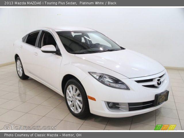 platinum white 2013 mazda mazda6 i touring plus sedan. Black Bedroom Furniture Sets. Home Design Ideas
