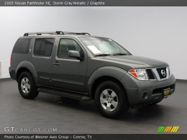 storm gray metallic 2005 nissan pathfinder xe graphite. Black Bedroom Furniture Sets. Home Design Ideas