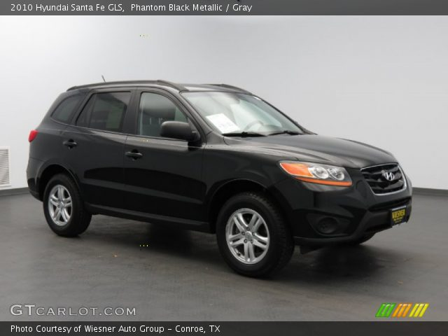 phantom black metallic 2010 hyundai santa fe gls gray interior vehicle. Black Bedroom Furniture Sets. Home Design Ideas