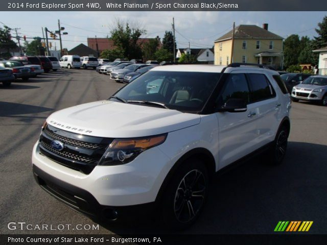 2014 ford explorer sport 4wd in white platinum