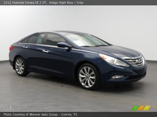 indigo night blue 2012 hyundai sonata se 2 0t gray interior vehicle archive. Black Bedroom Furniture Sets. Home Design Ideas
