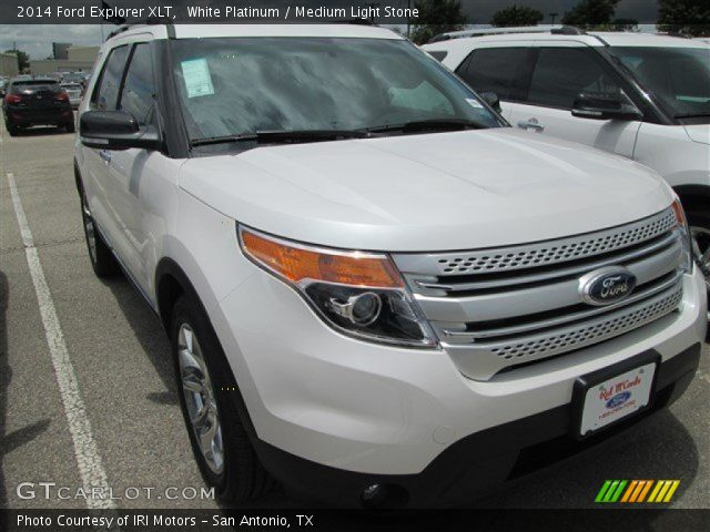 White Platinum 2014 Ford Explorer Xlt Medium Light Stone Interior Vehicle