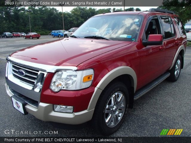 sangria red metallic 2009 ford explorer eddie bauer 4x4 camel interior. Black Bedroom Furniture Sets. Home Design Ideas