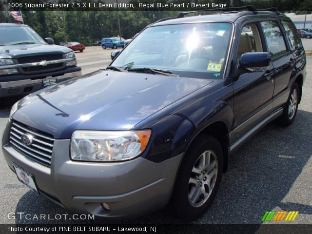 regal blue pearl 2006 subaru forester 2 5 x l l bean edition desert beige interior. Black Bedroom Furniture Sets. Home Design Ideas