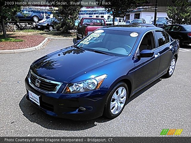 royal blue pearl 2009 honda accord ex l v6 sedan black interior vehicle. Black Bedroom Furniture Sets. Home Design Ideas