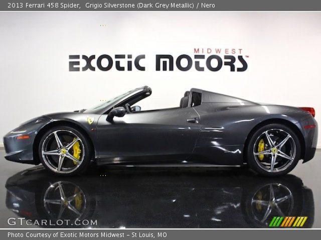 2013 Ferrari 458 Spider in Grigio Silverstone (Dark Grey Metallic)