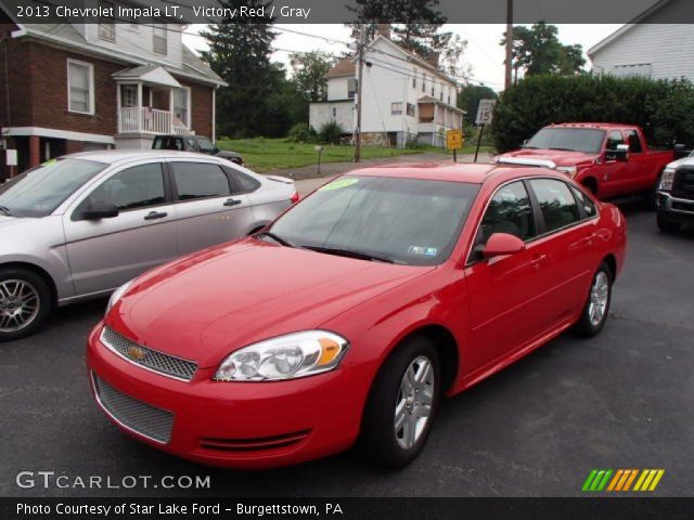 Victory Red 2013 Chevrolet Impala Lt Gray Interior Vehicle Archive 83692930