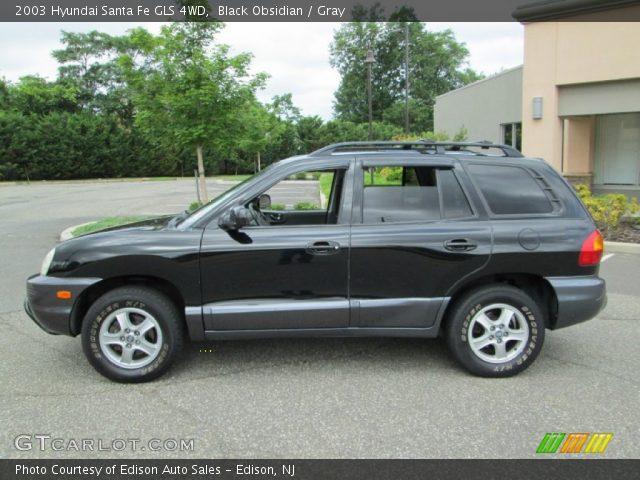 black obsidian 2003 hyundai santa fe gls 4wd gray interior vehicle archive. Black Bedroom Furniture Sets. Home Design Ideas