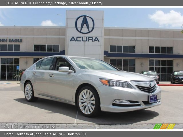 silver moon 2014 acura rlx technology package ebony interior vehicle. Black Bedroom Furniture Sets. Home Design Ideas