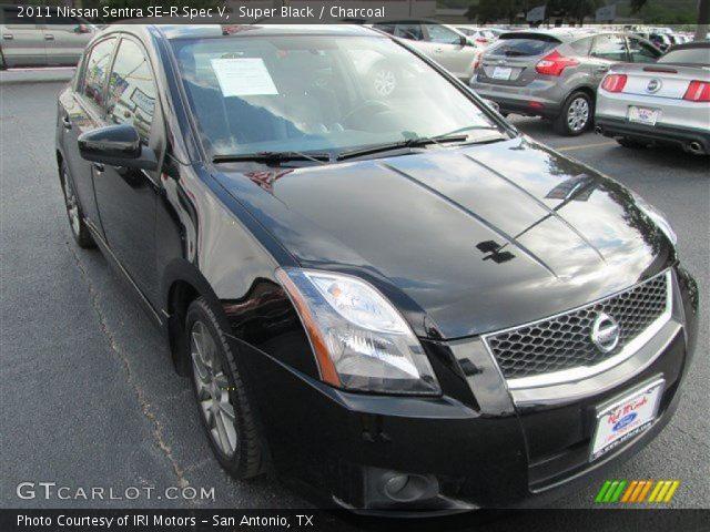 Super Black 2011 Nissan Sentra Se R Spec V Charcoal Interior