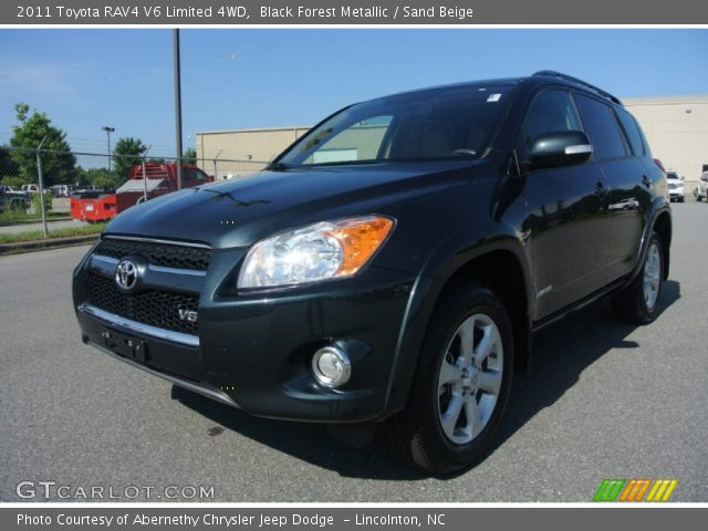 2011 Toyota RAV4 V6 Limited 4WD in Black Forest Metallic