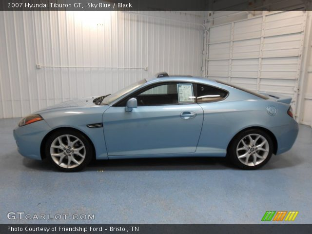 sky blue 2007 hyundai tiburon gt black interior. Black Bedroom Furniture Sets. Home Design Ideas