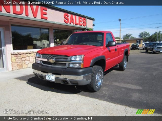 victory red 2004 chevrolet silverado 2500hd regular cab 4x4 dark charcoal interior. Black Bedroom Furniture Sets. Home Design Ideas