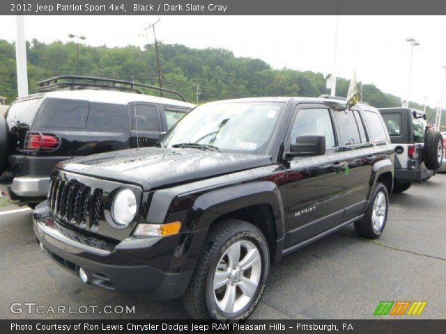 black 2012 jeep patriot sport 4x4 dark slate gray. Black Bedroom Furniture Sets. Home Design Ideas