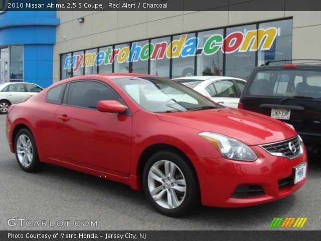 red alert 2010 nissan altima 2 5 s coupe charcoal interior vehicle archive. Black Bedroom Furniture Sets. Home Design Ideas