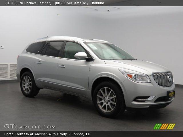 Quick Silver Metallic 2014 Buick Enclave Leather Titanium Interior Vehicle