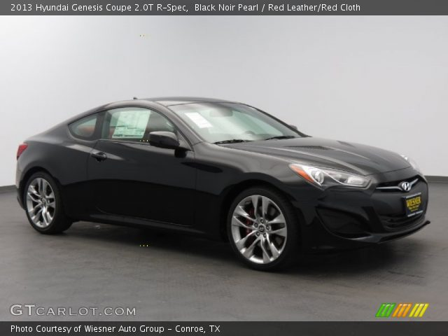 black noir pearl 2013 hyundai genesis coupe 2 0t r spec red leather red cloth interior. Black Bedroom Furniture Sets. Home Design Ideas