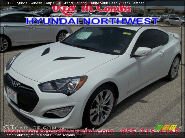 white satin pearl 2013 hyundai genesis coupe 3 8 grand touring black leather interior. Black Bedroom Furniture Sets. Home Design Ideas