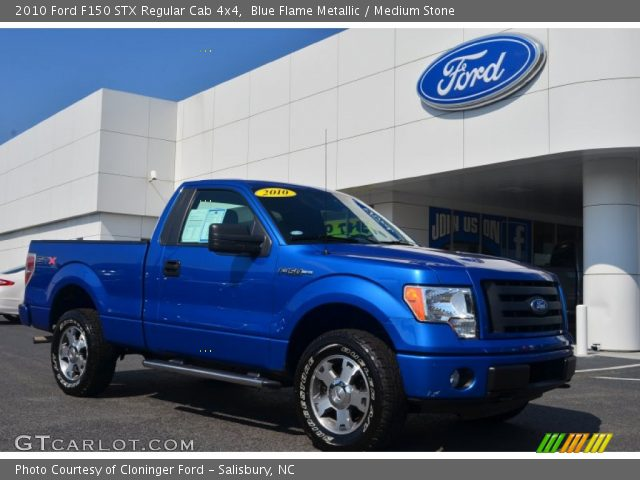 2010 Ford F150 STX Regular Cab 4x4 in Blue Flame Metallic