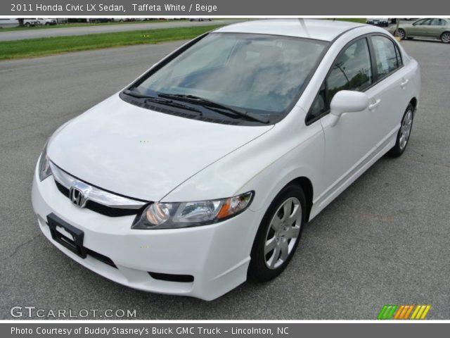 Taffeta White 2011 Honda Civic Lx Sedan Beige Interior