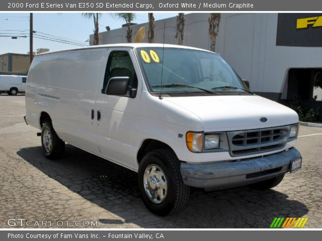 oxford white 2000 ford e series van e350 sd extended. Black Bedroom Furniture Sets. Home Design Ideas